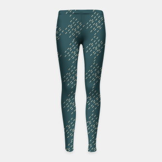 Thumbnail image of Petrol checkered pattern Girl's leggings, Live Heroes