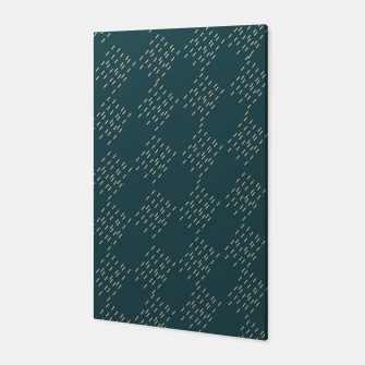 Thumbnail image of Petrol checkered pattern Canvas, Live Heroes