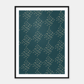 Thumbnail image of Petrol checkered pattern Framed poster, Live Heroes