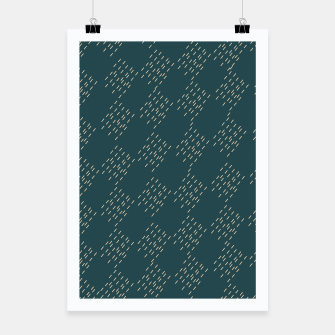 Thumbnail image of Petrol checkered pattern Poster, Live Heroes