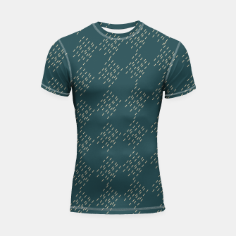 Thumbnail image of Petrol checkered pattern Shortsleeve rashguard, Live Heroes
