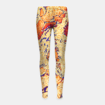 Miniaturka Abstract Gold Girl's leggings, Live Heroes