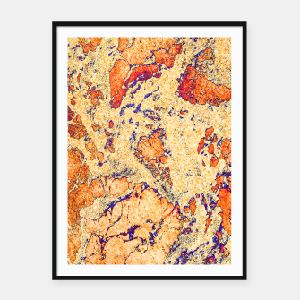Miniaturka Abstract Gold Framed poster, Live Heroes