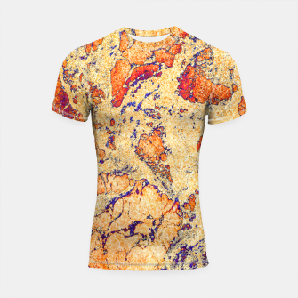 Miniaturka Abstract Gold Shortsleeve rashguard, Live Heroes