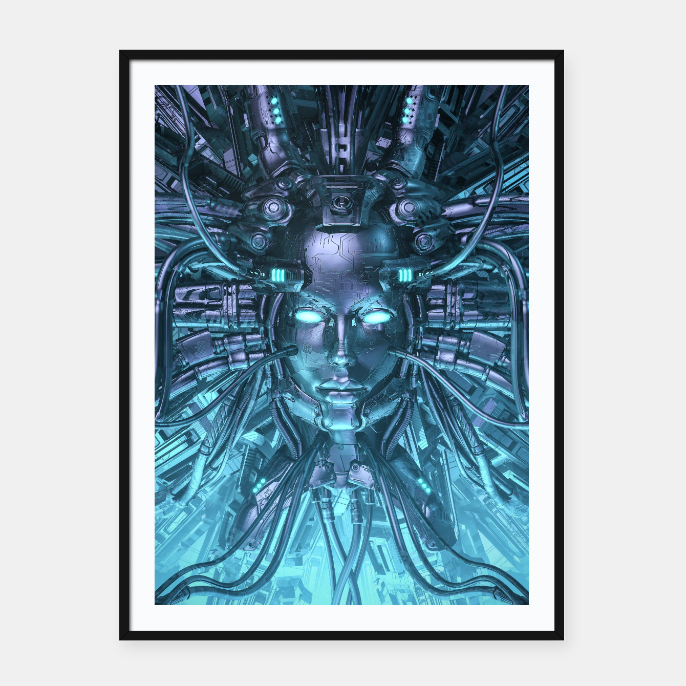 Image of Mind of the Machine Framed poster - Live Heroes