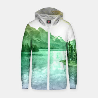 Thumbnail image of Lake View Zip up hoodie, Live Heroes