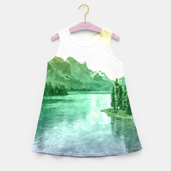 Miniaturka Lake View Girl's summer dress, Live Heroes