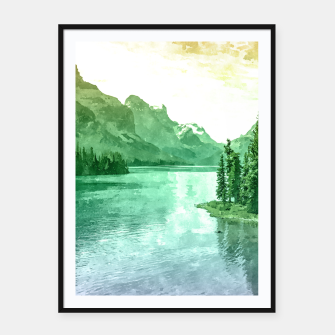 Thumbnail image of Lake View Framed poster, Live Heroes