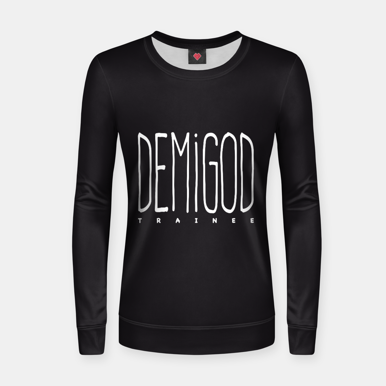 Zdjęcie Demigod Trainee (White on Black) Frauen sweatshirt - Live Heroes