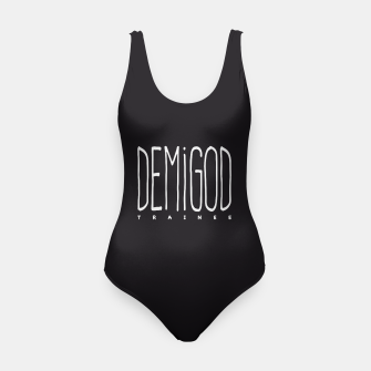 Demigod Trainee (White on Black) Badeanzug thumbnail image
