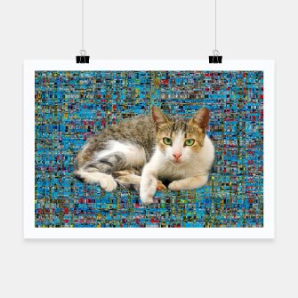 Thumbnail image of Cat on abstract background Plakat, Live Heroes