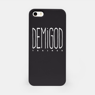 Demigod Trainee (White on Black) iPhone-Hülle thumbnail image