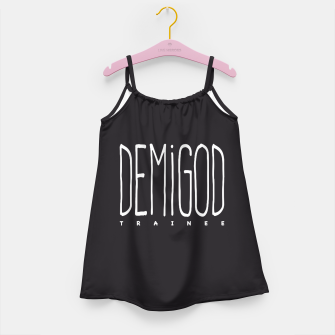 Demigod Trainee (White on Black) Mädchenkleid obraz miniatury