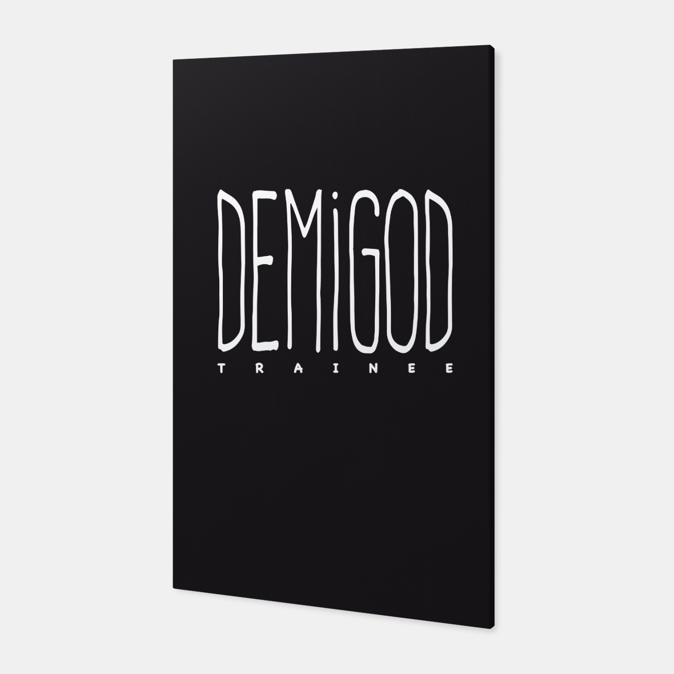 Image of Demigod Trainee (White on Black) Canvas - Live Heroes