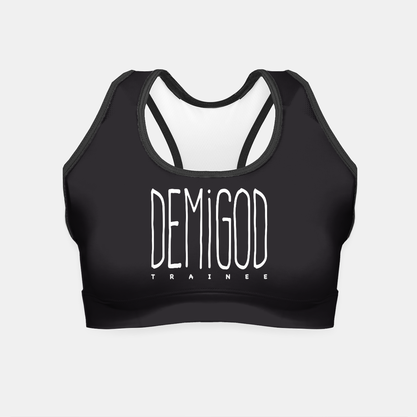 Zdjęcie Demigod Trainee (White on Black) Crop Top - Live Heroes