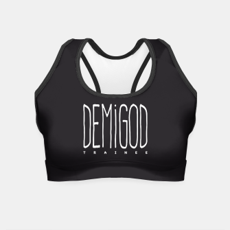 Demigod Trainee (White on Black) Crop Top obraz miniatury