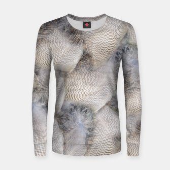 Thumbnail image of Feathers Frauen sweatshirt, Live Heroes