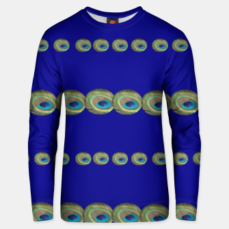 Thumbnail image of Peacock feather detail Unisex sweatshirt, Live Heroes
