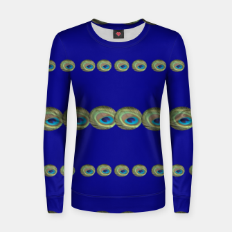 Thumbnail image of Peacock feather detail Frauen sweatshirt, Live Heroes