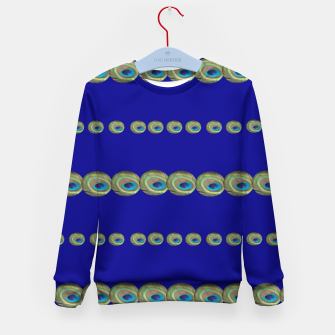 Thumbnail image of Peacock feather detail Kindersweatshirt, Live Heroes