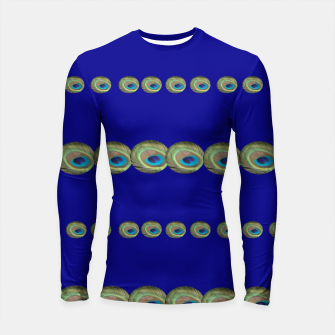 Thumbnail image of Peacock feather detail Longsleeve rashguard, Live Heroes