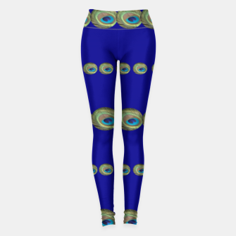 Thumbnail image of Peacock feather detail Leggings, Live Heroes