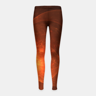 Thumbnail image of Blood Orange Girl's leggings, Live Heroes