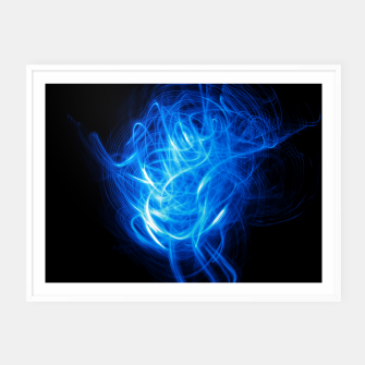 Thumbnail image of Abstract Blue Light Effect Framed poster, Live Heroes