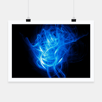 Thumbnail image of Abstract Blue Light Effect Poster, Live Heroes