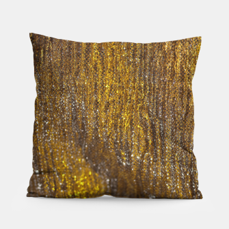 Thumbnail image of Gold Abstract Sparkly Design Pillow, Live Heroes
