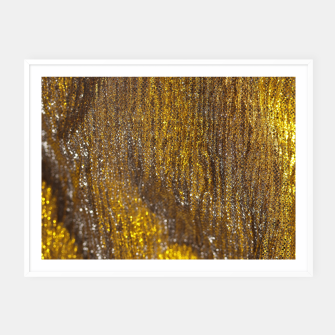 Thumbnail image of Gold Abstract Sparkly Design Framed poster, Live Heroes