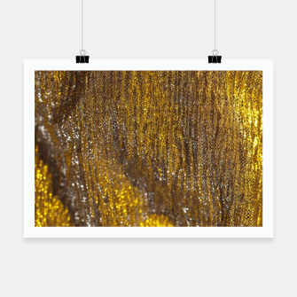Thumbnail image of Gold Abstract Sparkly Design Poster, Live Heroes