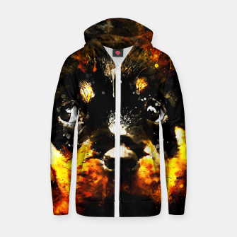 Thumbnail image of rottweiler puppy dog ws std Zip up hoodie, Live Heroes