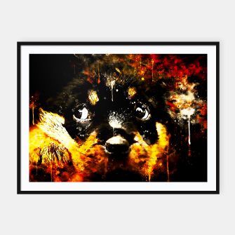 rottweiler puppy dog ws std Framed poster thumbnail image