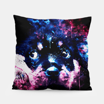 rottweiler puppy dog ws c80 Pillow thumbnail image