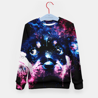 rottweiler puppy dog ws c80 Kid's sweater thumbnail image