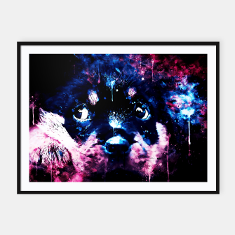rottweiler puppy dog ws c80 Framed poster thumbnail image