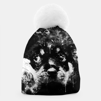 rottweiler puppy dog ws bw Beanie thumbnail image