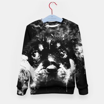 rottweiler puppy dog ws bw Kid's sweater thumbnail image