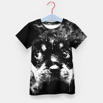 rottweiler puppy dog ws bw Kid's t-shirt thumbnail image