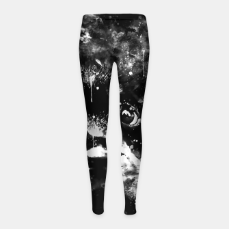 rottweiler puppy dog ws bw Girl's leggings thumbnail image