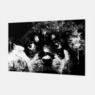rottweiler puppy dog ws bw Canvas thumbnail image