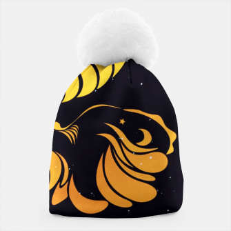 Angry cattle in the wind by #Bizzartino v2 Beanie thumbnail image
