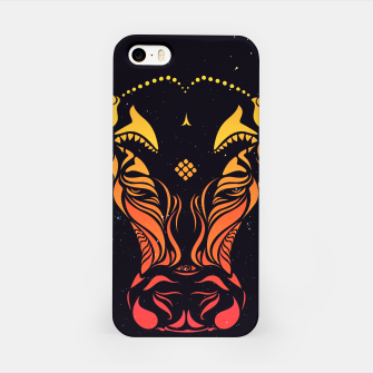 Angry cattle in the wind by #Bizzartino v2 iPhone Case thumbnail image