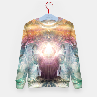 Thumbnail image of Celestial Vibrations Kid's sweater, Live Heroes
