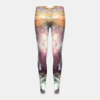 Thumbnail image of Celestial Vibrations Girl's leggings, Live Heroes