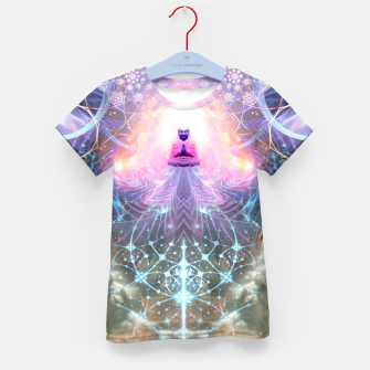Thumbnail image of The Alchemist's Breath (Buddha) Kid's t-shirt, Live Heroes
