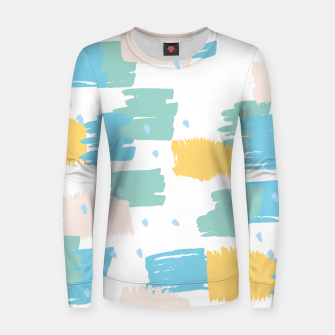 Pastel colors brushstrokes Women sweater thumbnail image