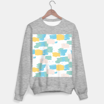 Pastel colors brushstrokes Sweater regular thumbnail image