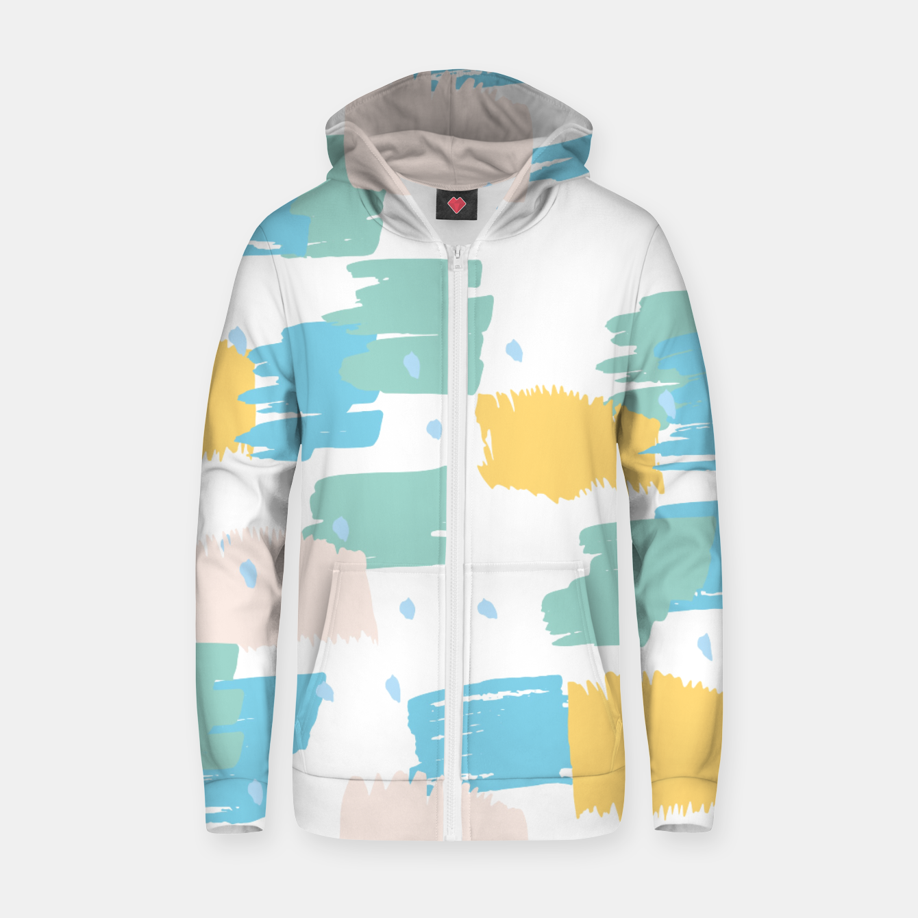 Image of Pastel colors brushstrokes Zip up hoodie - Live Heroes